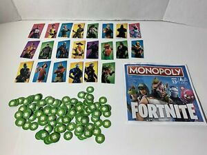Monopoly Fortnite Board Game Replacement Health Points, Instructions, 22 Outfits