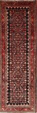 Excellent Black 4 x 11 Wool Malayer Oriental Runner Rug 10'9 x 3'7