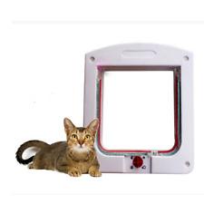 Pet door 4 way locking Small Medium Dog Cat Flap Magnetic White Frame Pop Modish