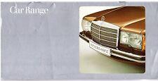 Mercedes-Benz 1978-79 UK Market Sales Brochure W123 S-Class SLC SL 600