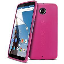 Coque Housse Pour Motorola Nexus 6 Semi Rigide Gel Extra Fine Mat/Brillant Rose