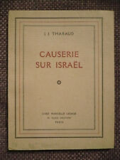 J. J. Tharaud, Causerie sur Israël