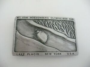 Vintage 1980 XIII Olympic Winter Games Lake Placid Belt Buckle Commemorative