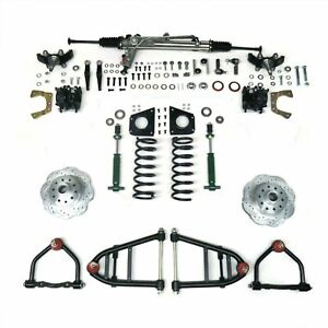 59-74 Ford Galaxie Mustang II IFS Kit Power Rack Shock Thru Stock  - No Xmember