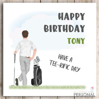 Personalised Golf Birthday Card for Grandad Dad Uncle Brother Son Grandpa Mens