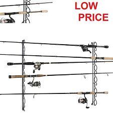 Organizer Fishing Rod Rack Holder Rack Storage Pole Ceiling Wire Wall Mount 9