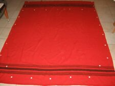 "Vintage Original The Golden Ram England Red Woven Pure Wool Huge Blanket 90""x68"""