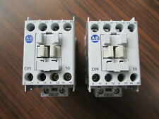 Lot of 2 Allen Bradley 100-C09*10 Contactors With 120 Volt Coils (100-C09D10)