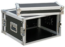"RACK CASE 6HE /19"" Rackschienen v+h maxTiefe 45cm 9mm Multiplex Flightcase Profi"