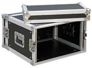 """RACK CASE 6HE /19"""" Rackschienen v+h maxTiefe 45cm 9mm Multiplex Flightcase Profi"""