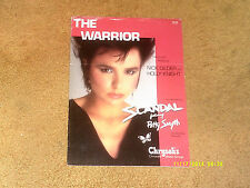 SCANDAL,Patty Smyth sheet music THE WARRIOR w/guitar licks,solos '84 8 pp (VG)