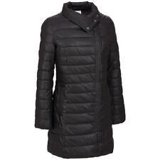 COLE HAAN Signature Women's Winter Puffy Asymmetrical Long Jacket Black S