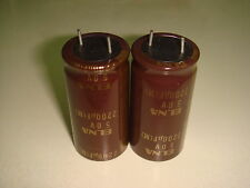 2 X MADE IN JAPAN ELNA SILMIC 2200uF 50V FOR AUDIO ELECTROLYTIC CAPACITOR