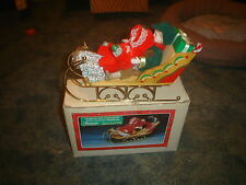VINTAGE CHRISTMAS AROUND THE WORLD PORCELAIN CHILDREN WITH  SLEIGH MUSICAL