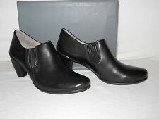 Ecco Size 10 to 10.5 SCULPTURED 65 CHELSEA Black Leather Boots New Womens Shoes