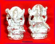 Lord Ganesha - Laxmi Made in Pure Parad / Mercury (1.5 inches) - 85 gm (425 ct)