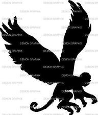 Flying Monkey vinyl decal/sticker window fantasy mythical winged wizard or OZ
