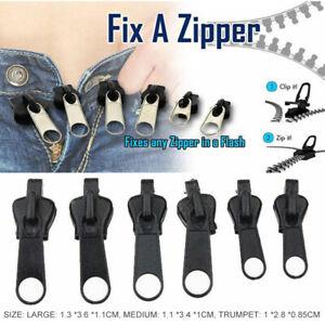 6pcs/Set Fix A Zipper Zip Slider Puller Rescue Instant Repair Kit Replacement