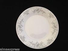 "Lynns Fine China OLIVIA Empress Gray White Flowers - 7-1/2"" SALAD / BREAD PLATE"