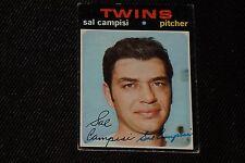 SAL CAMPISI 1971 TOPPS SIGNED AUTOGRAPHED CARD #568 HI# MINNESOTA TWINS
