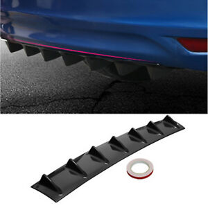 Car Rear Body Bumper Lip Diffuser Modified Racing Shark Fin ABS 7 Spoiler Wing