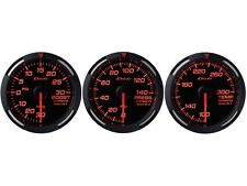 DEFI RED RACER 60MM 3 GAUGES SET (TURBO BOOST/OIL PRESSURE/WATER TEMPERATURE)