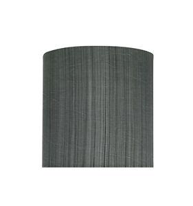 "Aspen Creative 58301 Drum/Cylinder Shape UNO Lamp Shade, Grey & Black 8""x8""x8"""