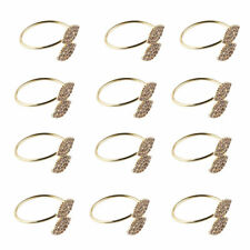 12Pc/set Rhinestone Napkin Rings Handmade Serviette Buckle Holder Wedding Dinner