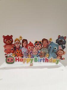 Happy birthday cake topper Cocomelon
