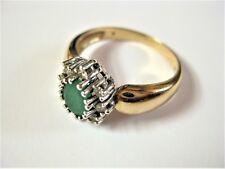 Ring Gold 585 mit Smaragd und Brillanten, 5,14 g