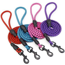 Braided Strong Nylon Rope Leash Pet Cat Dog Walking Lead Leash for Labrador Pink