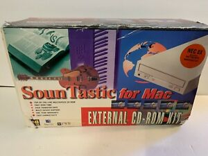 Hi-Val SounTastic External 8X SCSI CD-ROM Drive Apple Mac Macintosh UNUSED