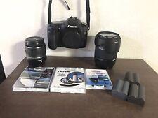 Canon EOS 30D DS126131 Camera 2 Lenses 3 Batteries with charger BUNDLE