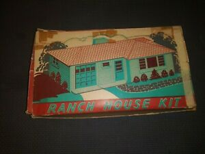 Plasticville RH-1 O Ranch House Kit in the box 1951