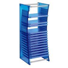 Hama 20 Blu-ray Rack - Plastic Storage Box Fitting 20 Blu-ray In Cases BLUE New