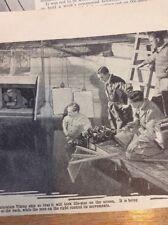 Ephemera 1935 Picture Film Making Model Experts With Viking Ship f1k