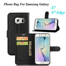 TOP QUALITY FLIP GENUINE PU LEATHER PHONE BAG PURSE FOR SAMSUNG GALAXY S7;S7 EDG