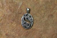 Set Anhänger Keltische Triskele Silber + Lederband Sterlingsilber Triscele