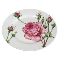 Teller flach Kuchenplatte Redouté Rose Knochenporzellan Joséphine Jardin du roi