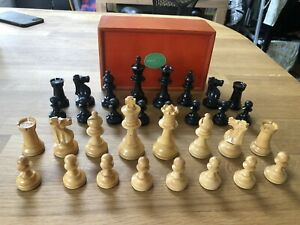 A lovely vintage chess set with wooden box
