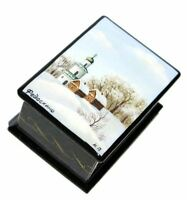 First Snow Miniature Fedoskino Lacquer Box