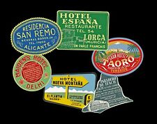 Travel Stickers, Luggage Labels & Baggage Tags, 6 Suitcase Decals, REPRODUCTIONS