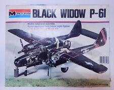 "Vintage Monogram 1:48 Scale Northrop P-61 ""Black Widow"" Night Fighter Kit R12120"