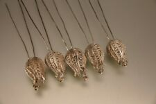 RAR 5 Große Antike Filigransilber Haarnadeln Tulpennadeln Silber