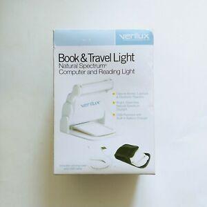 Verilux Book & Travel Light Deluxe Natural Spectrum Reading & Computer Lamp -New