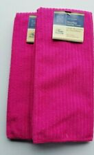 2 Home Collection Kitchen Towels / Dish Towels Bright Pink Microfiber