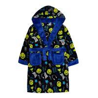 Boys Novelty Gamer Design Dressing Gown Robe Plush Hooded  2-13 Years