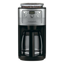 Black and Chrome 12-Cup Glass Container Programmable Coffee Maker with Grinder