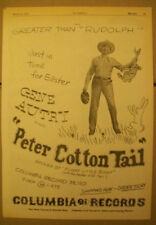 Gene Autry 1950 Ad- Peter Cotton Tail/Funny Little Bunny  Columbia