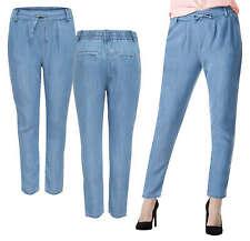 ONLY Damen Chino Stoff Hose onlPOPTRASH DENIM WOVEN LYOCELL PANT Jeans hellblau